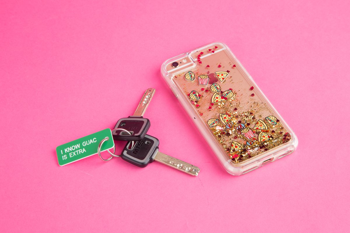 """Fun phone case and """"keychain"""