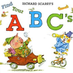 """This book cover released by Sterling Publishing shows the cover of """"Find Your ABC's,"""" by Richard Scarry."""