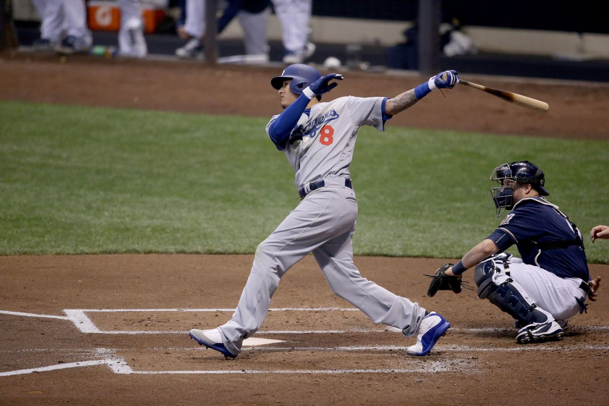 Manny Machado hits a home run for the Los Angeles Dodgers