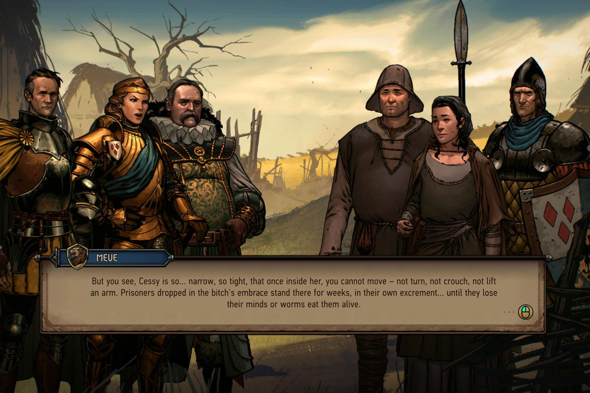 Thronebreaker: The Witcher Tales - conversation cutscene