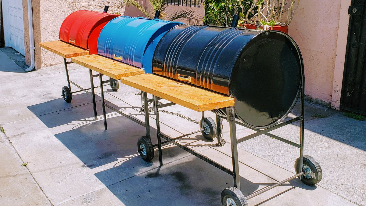 Custom barbecue barrel pits in South Los Angeles