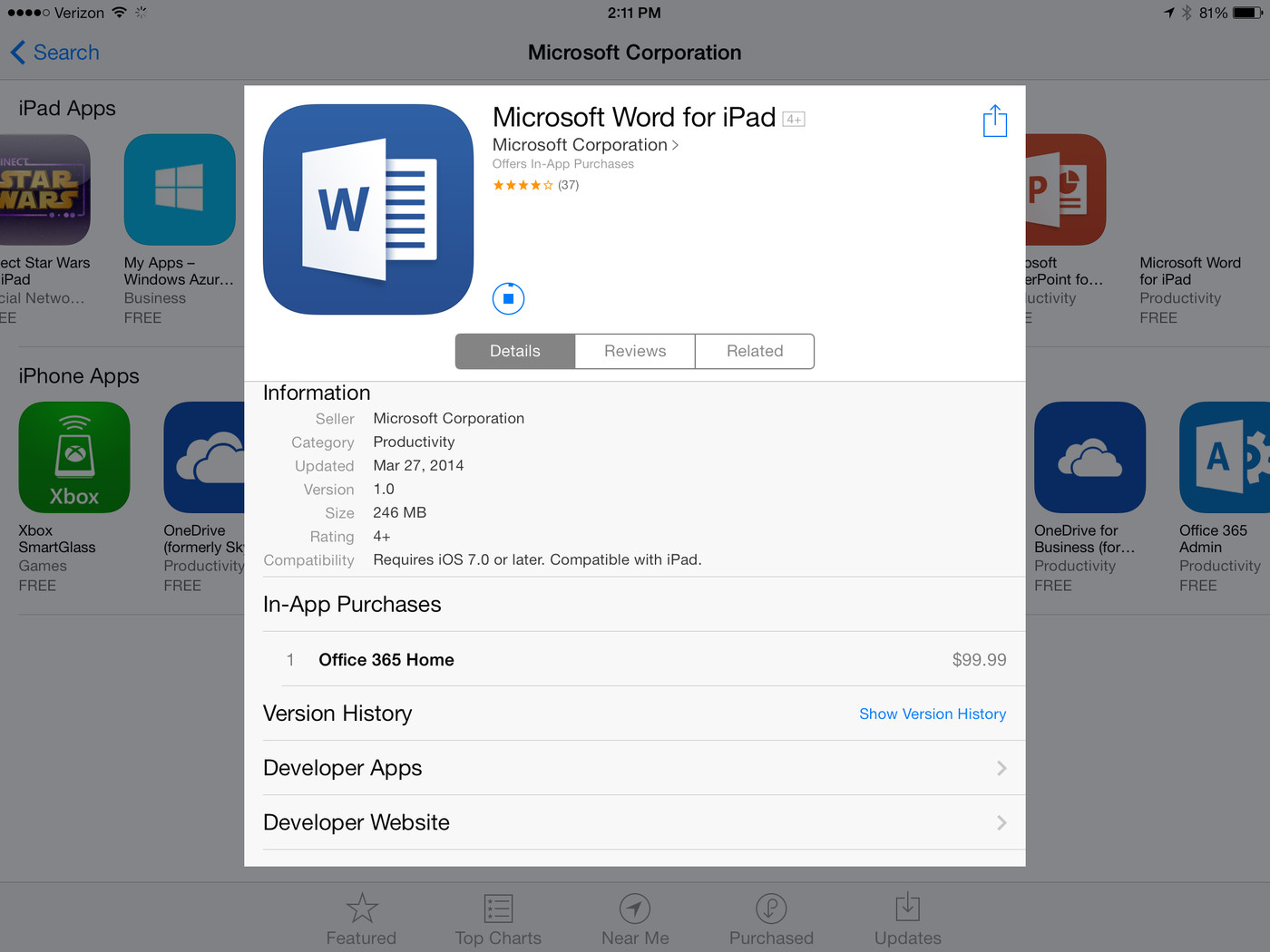 Microsoft Is Selling Office 365 Within iPad Apps, and Apple Is ...