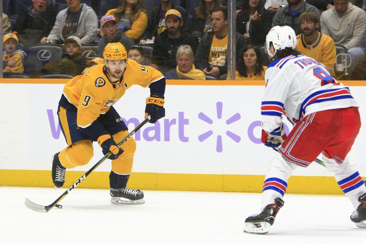 NHL: NOV 02 Rangers at Predators