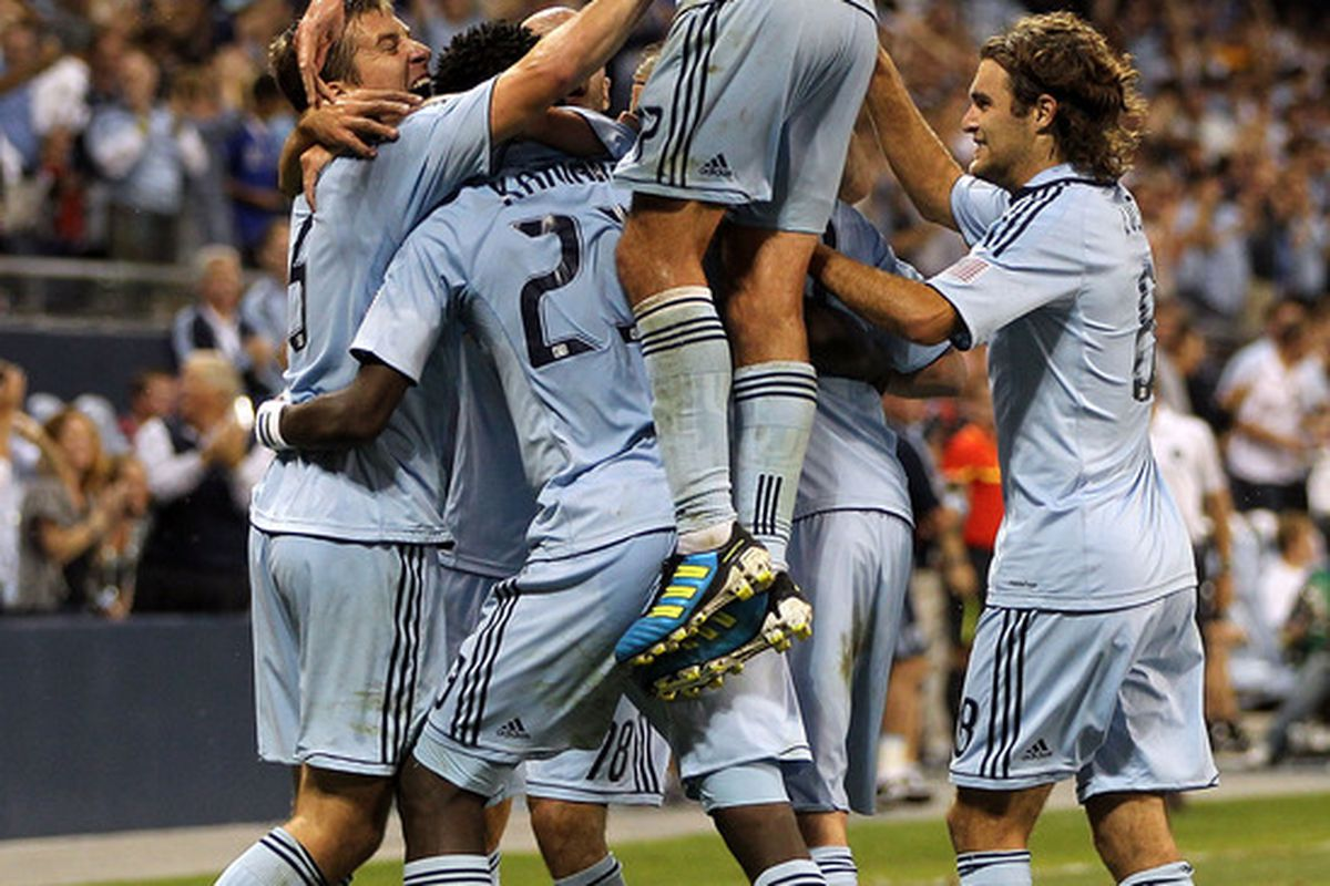 Wednesday night's 2-1 victory over the Columbus Crew saw not only the return of Davy Arnaud, but also put Sporting Kansas City atop the Eastern Conference. (Photo by Jamie Squire/Getty Images)