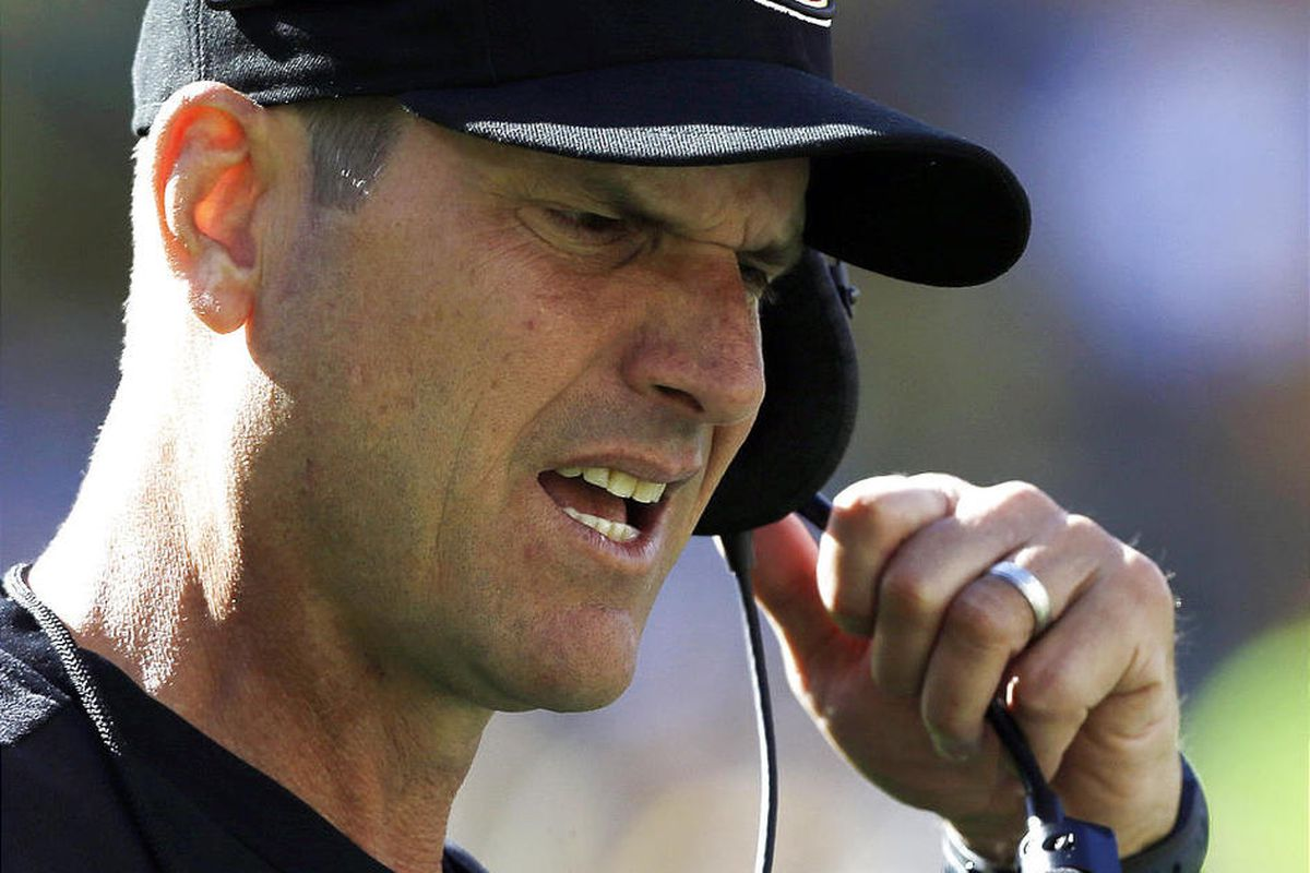 San Francisco head coach Jim Harbaugh had his team stay in Ohio rather than make two cross-country trips.