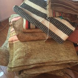 Miscellaneous textiles and blankets from Lauren Manoogian's travels