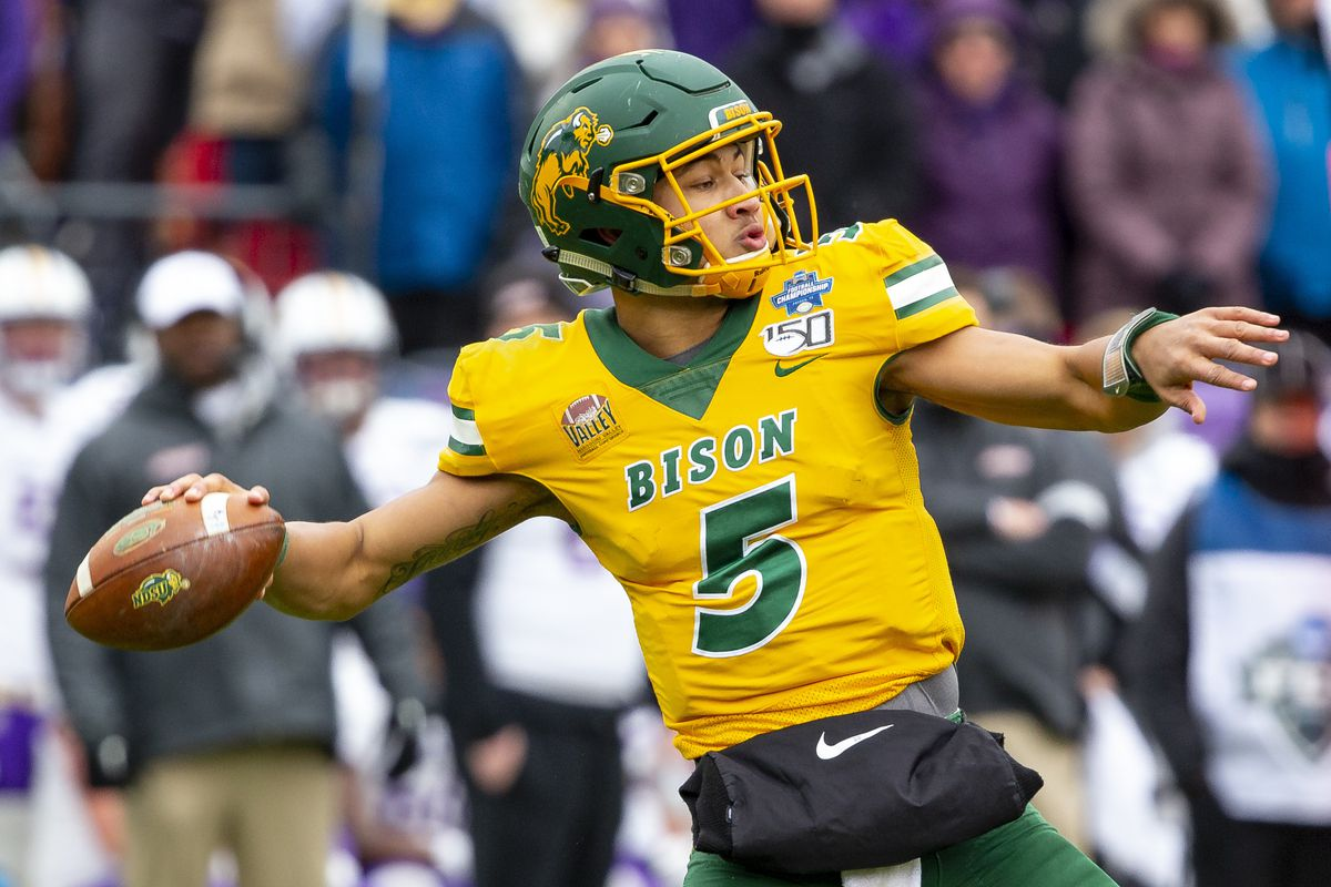North Dakota State quarterback Trey Lance is one of five passers expected to be drafted in Round 1.