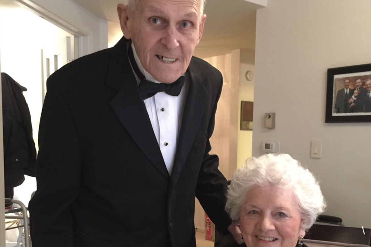 Muriel and Irv Kaage Jr. at his 90th birthday party. They died in quarantine at an assisted-living facility, deprived of face-to-face contact with their children and grandchildren.