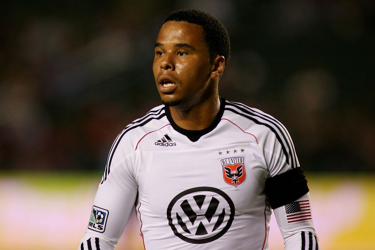 CARSON, CA - SEPTEMBER 10:  Charlie Davies #9 of D.C. United eyes the play against Chivas USA in the first half at The Home Depot Center on September 10, 2011 in Carson, California.  (Photo by Jeff Golden/Getty Images)