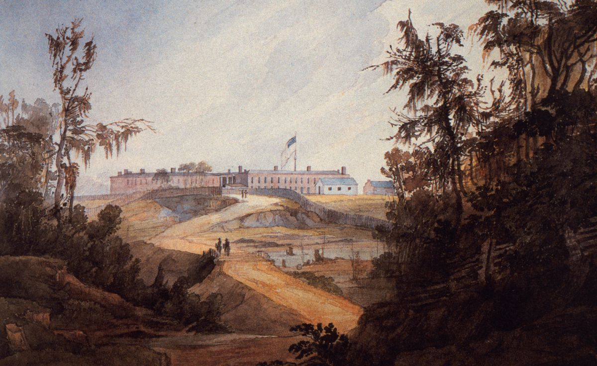 Baton Rouge in the 1830s, when the Republic of West Florida was just a memory.