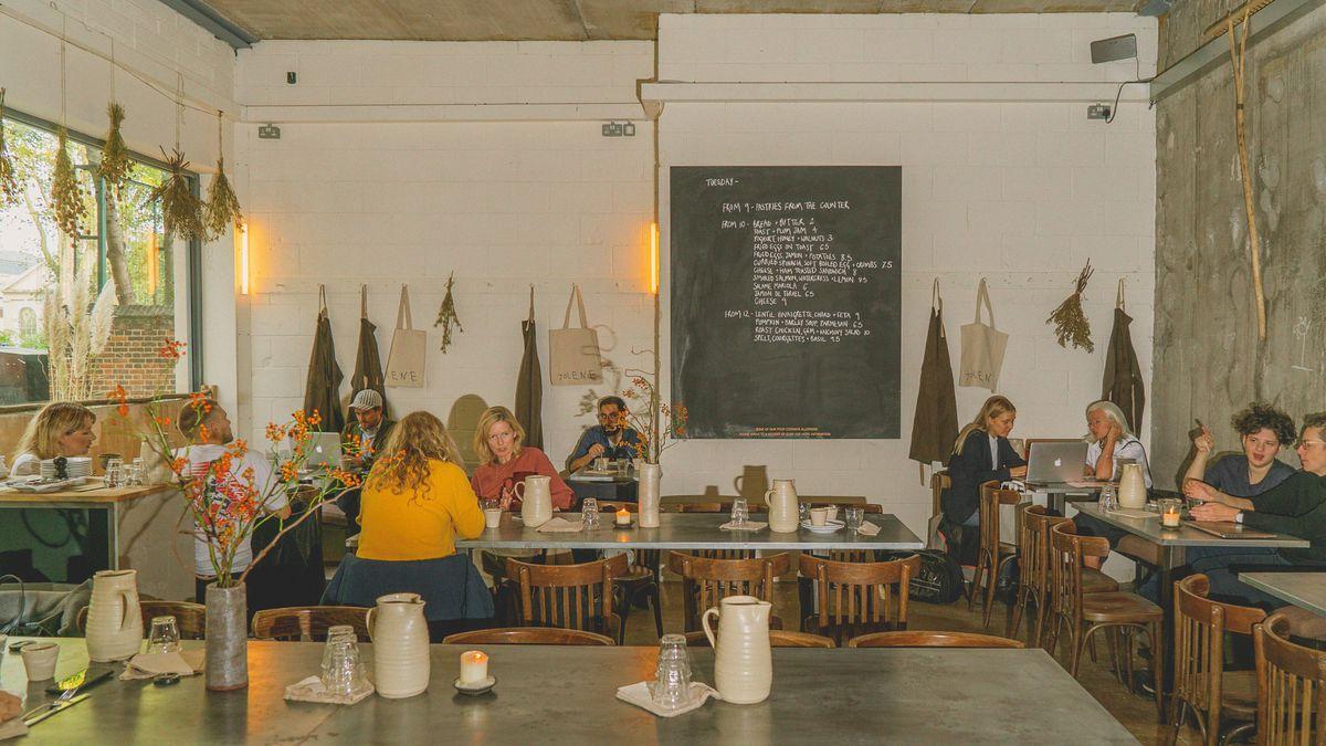 The interior at Jolene bakery, restaurant and wine bar in Newington Green