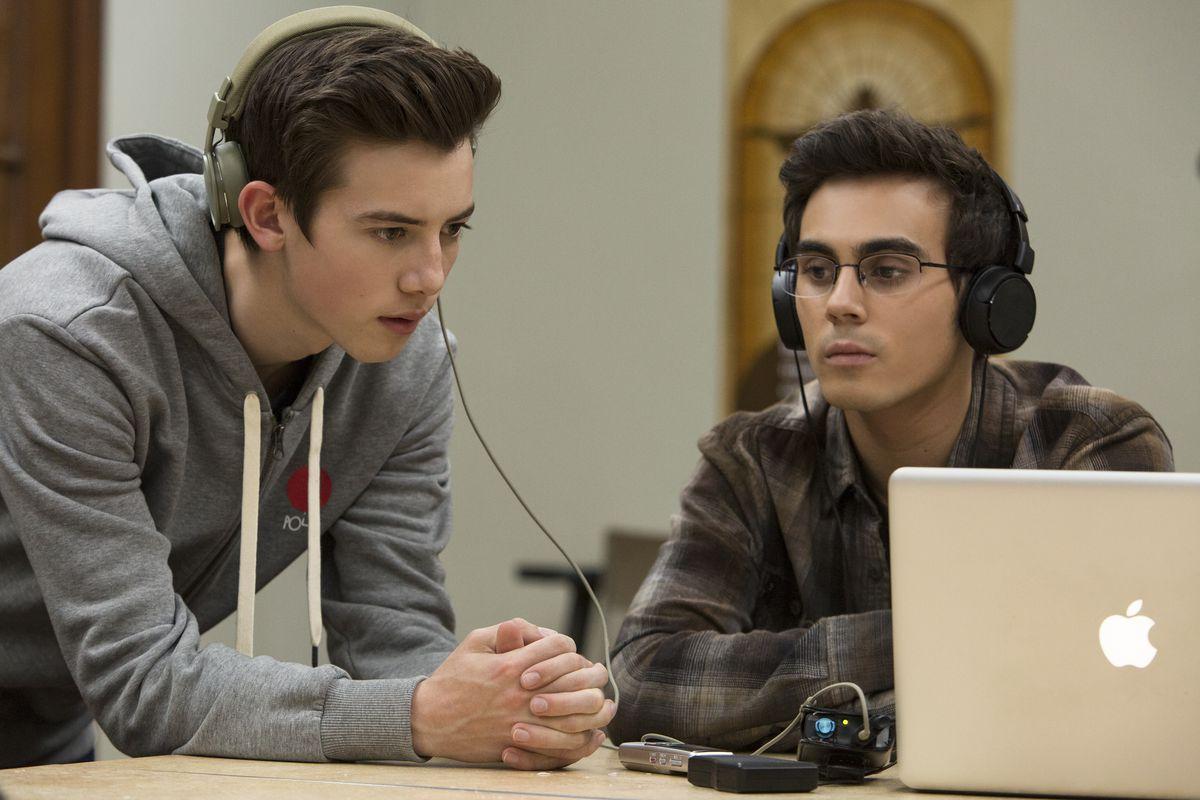 American Vandal season 2 - Sam and Peter wearing headphones