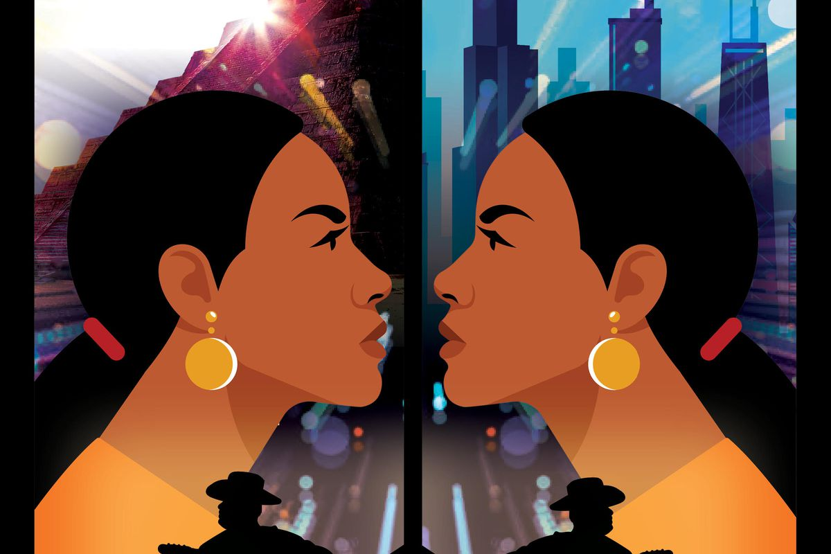"""A poster announces the premiere of """"Zulema,"""" to be presented by Goodman Theatre this summer at various Chicago parks."""
