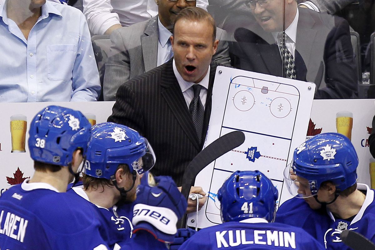 Toronto Maple Leafs assistant coach Greg Cronin is reportedly one of the candidates for the head coaching position at Maine.