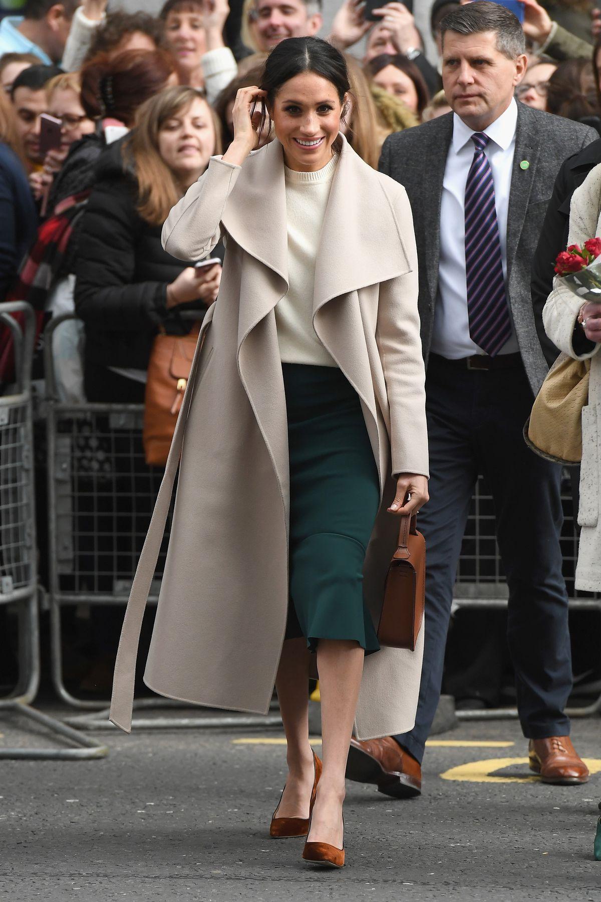 Meghan Markle in coat