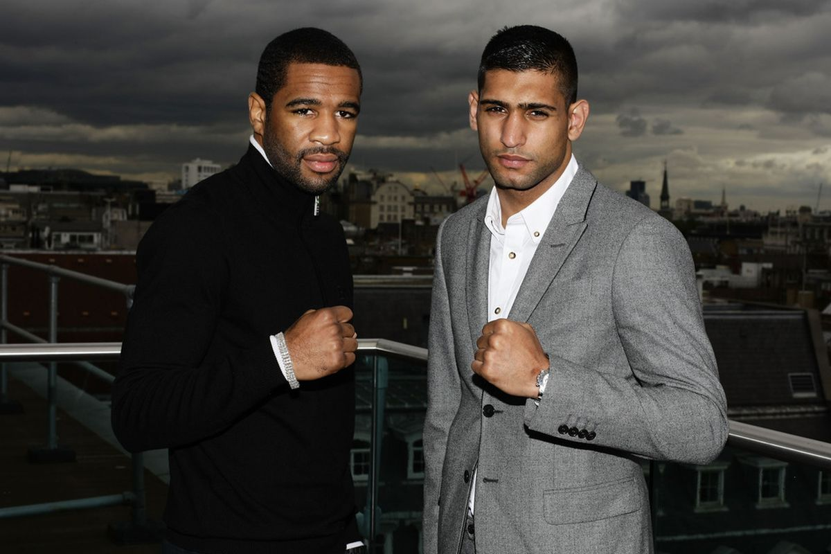 Lamont Peterson respects Amir Khan, but is fully confident he's going to score the upset this Saturday night in Washington, DC. (Photo by Brendon Thorne/Getty Images)