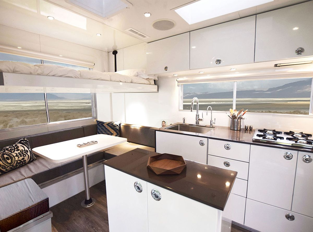 Shiny camper trailer is built to go off-grid - Curbed