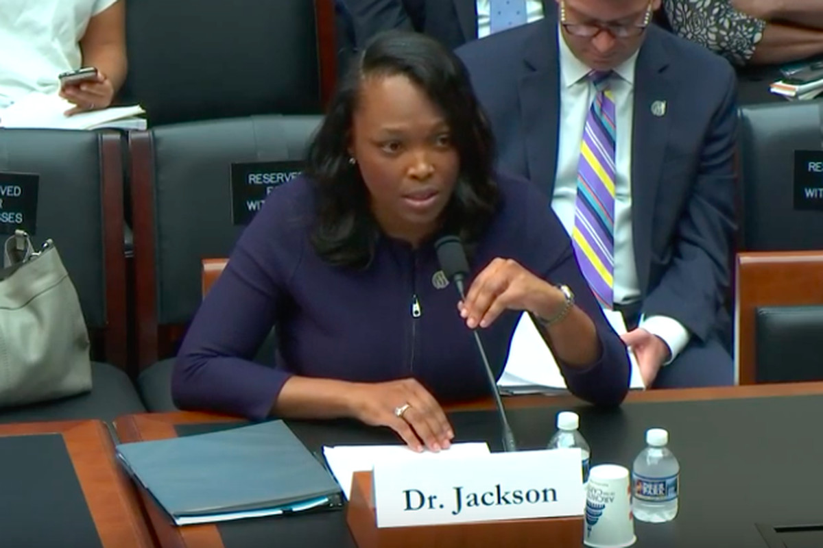 Chicago schools CEO Janice Jackson was one of four public officials who spoke Sept. 11, 2019, before the U.S. House Early Childhood, Elementary and Secondary Education Subcommittee.