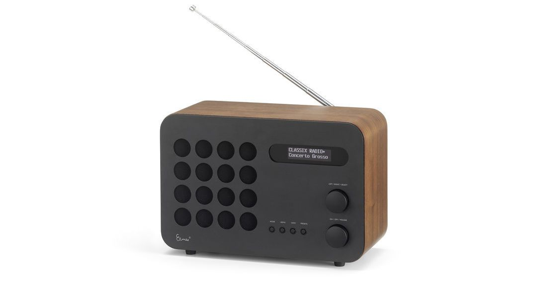 Radio with molded plywood cabinet