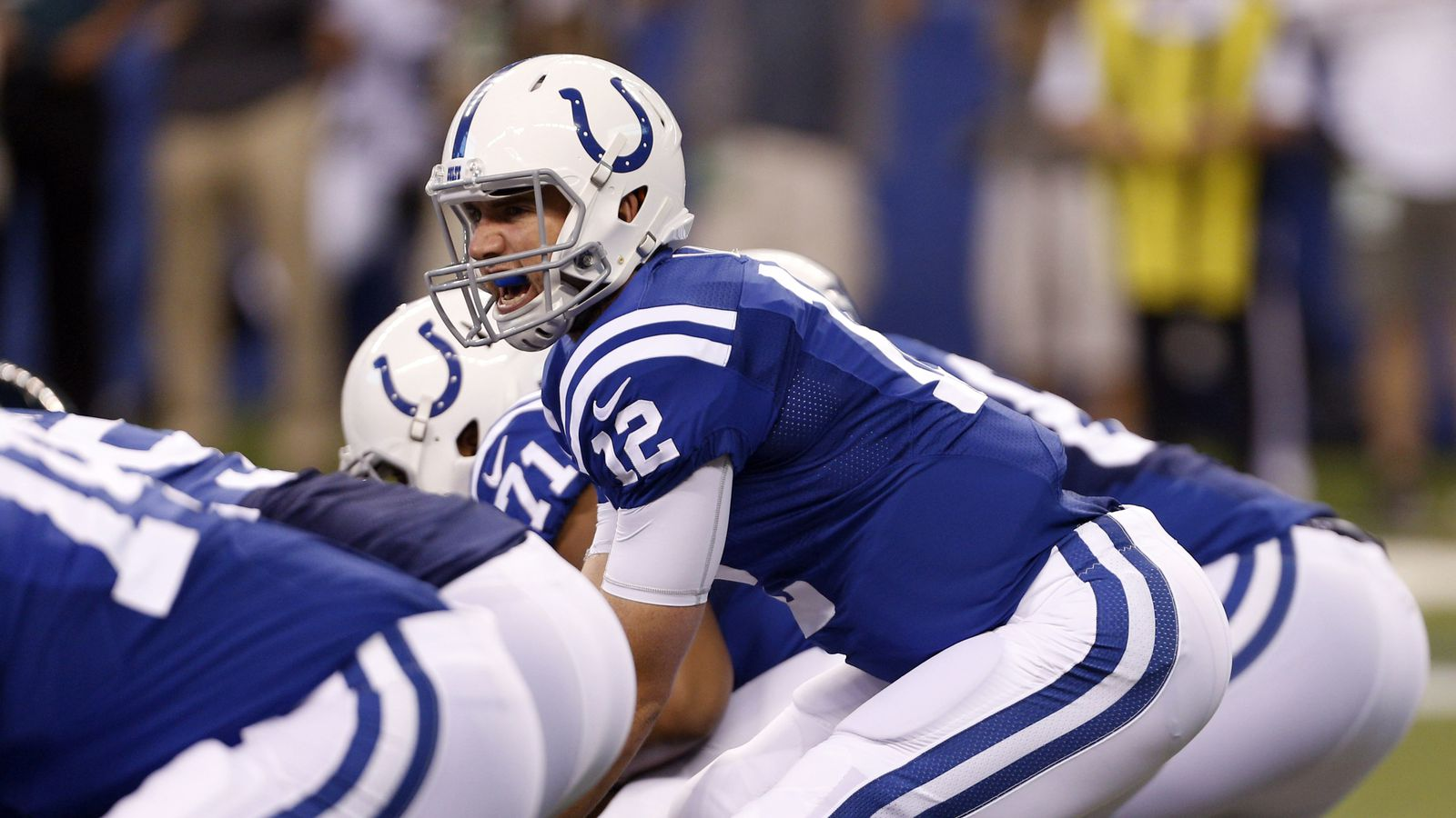 Colts pulled Andrew Luck from game early on Saturday due to offensive line struggles