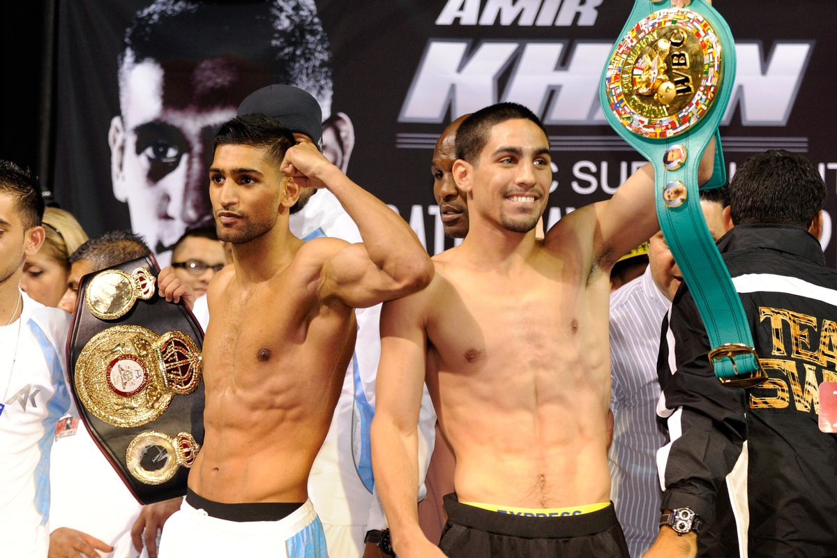 Amir Khan and Danny Garcia had boxing fans talking, but they didn't sell many tickets in Vegas. (Photo by David Becker/Getty Images for Golden Boy Promotions)