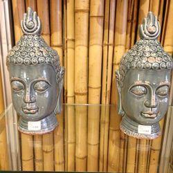 Blue buddha busts, $39.75 each (was $79.50)