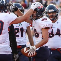 Alta and Springville compete in a UHSAA 4A semifinals game at Rice-Eccles Stadium in Salt Lake City on Friday, Nov. 11, 2016.