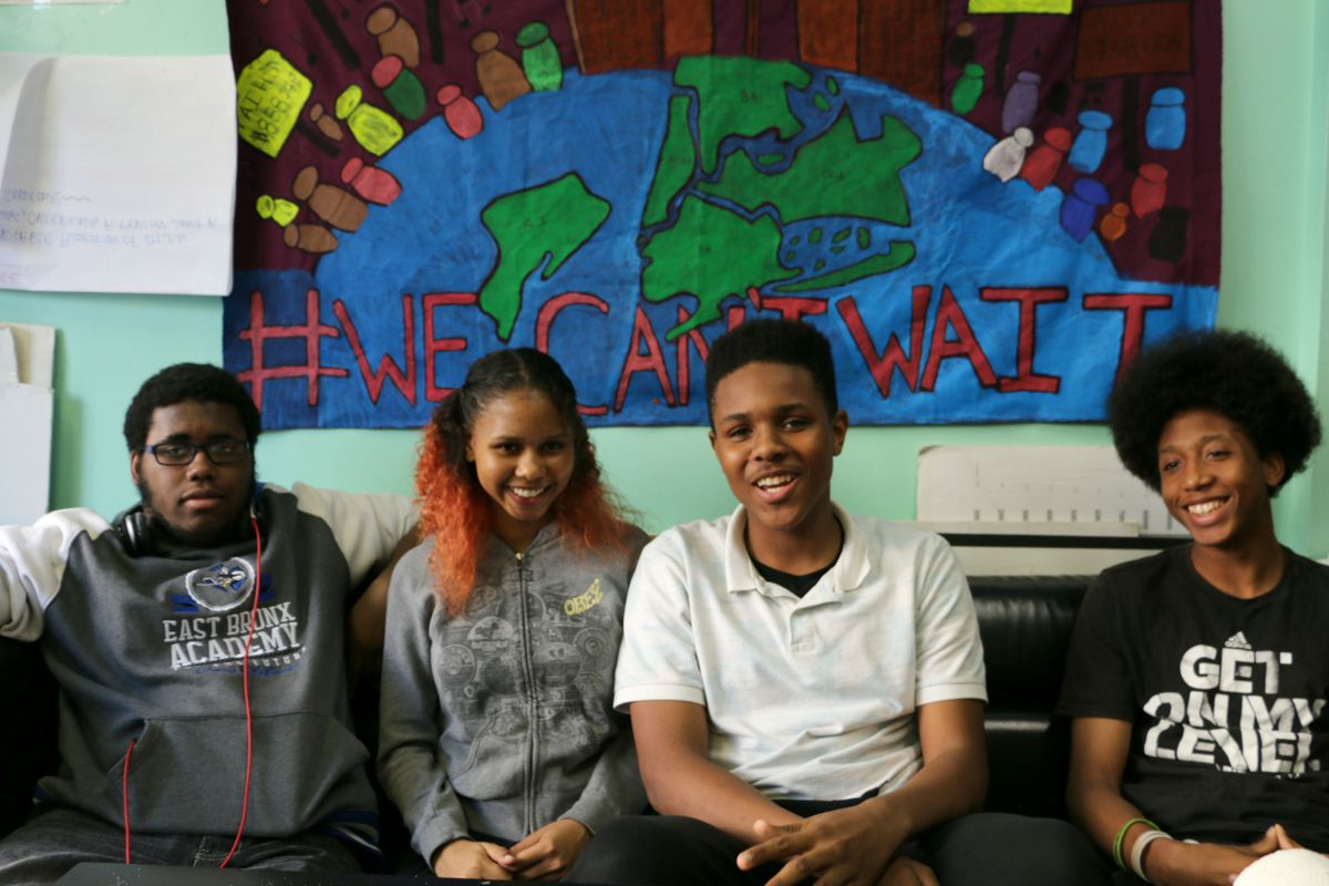 """Student members of the advocacy group Urban Youth Collaborative explained why they support  a """"restorative"""" approach to school discipline."""