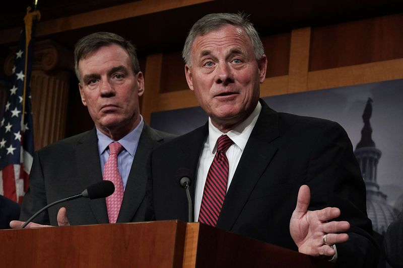 The two leaders of the Senate Intelligence Committee: Chairman Richard Burr (R-NC) and Vice Chair Mark Warner (D-VA).