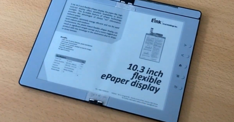 E Ink demos a folding e-reader that can also take notes – The Verge