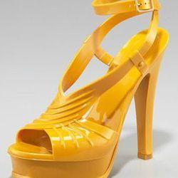 "<a href=""http://www.neimanmarcus.com/product.jsp?itemId=prod139100105&ecid=NMALRJ84DHJLQkR4&CS_003=5630585""> Yves Saint Laurent Tribute jelly sandal</a>, $331 neimanmarcus.com"