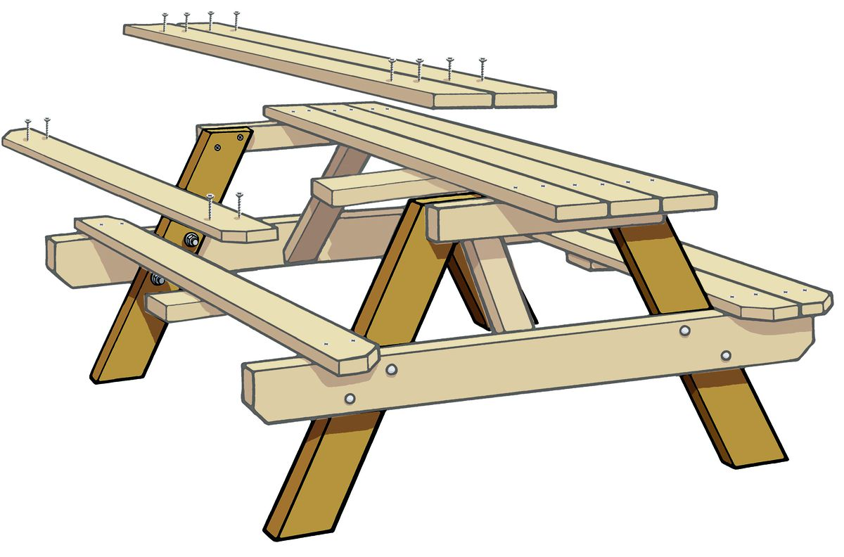 Frame Parts Of Picnic Table