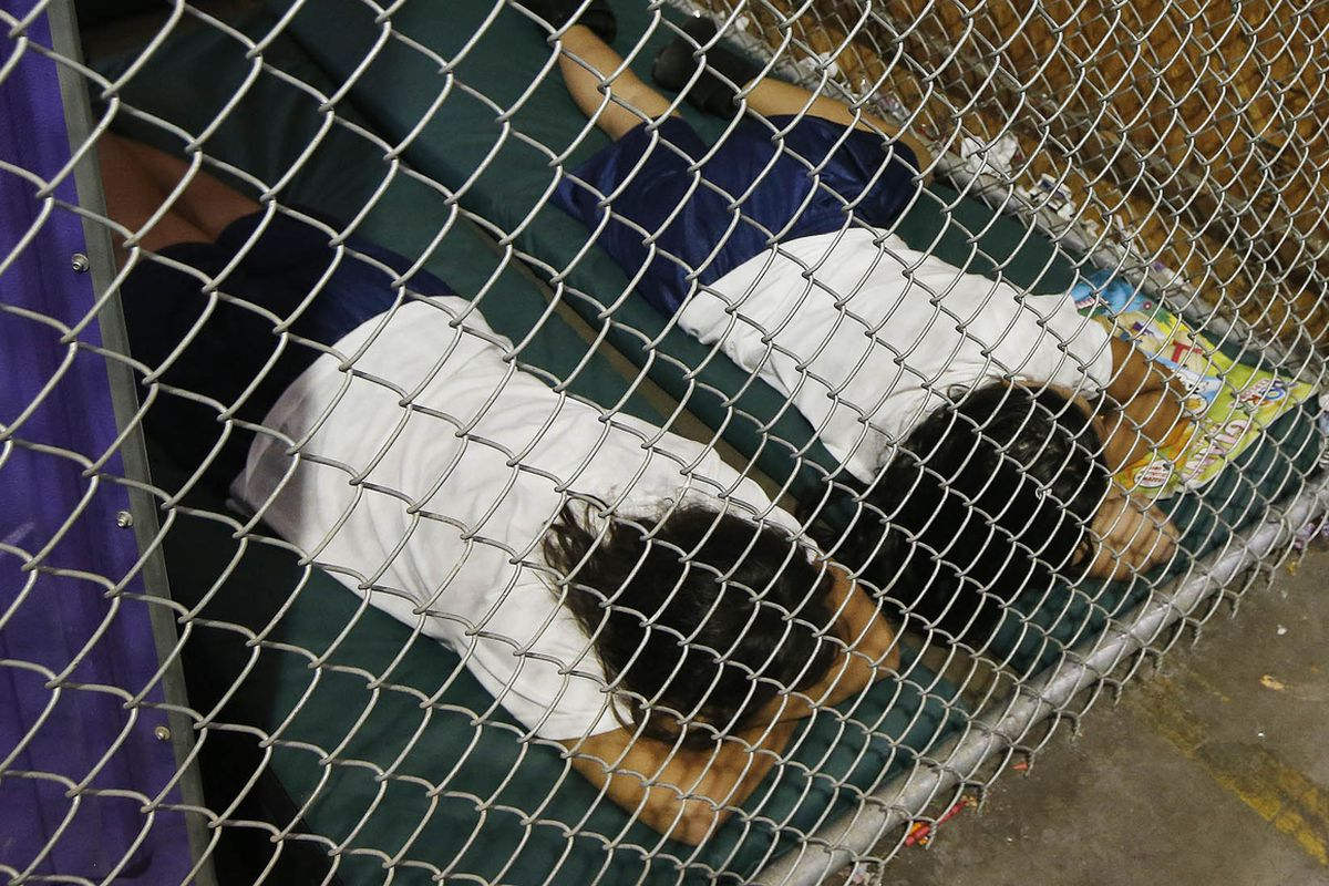 Children in a holding cell in Nogales, Arizona.