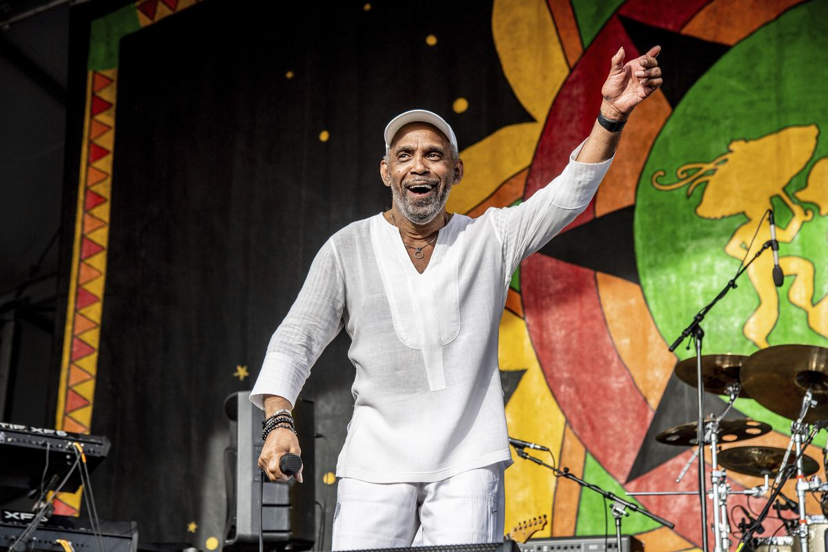 Frankie Beverly performing with Maze at the New Orleans Jazz and Heritage Festival in New Orleans in May.