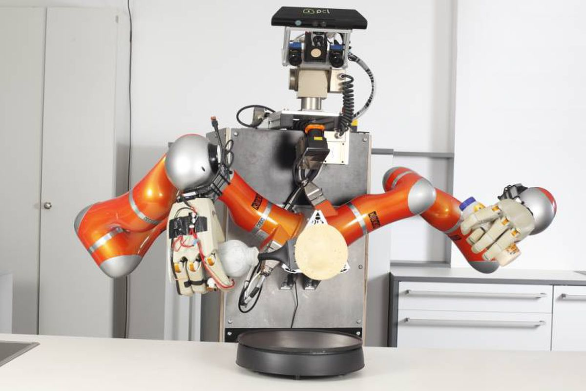 This robot chef will skillfully flip your pancakes eater courtesy of robothow ccuart Image collections