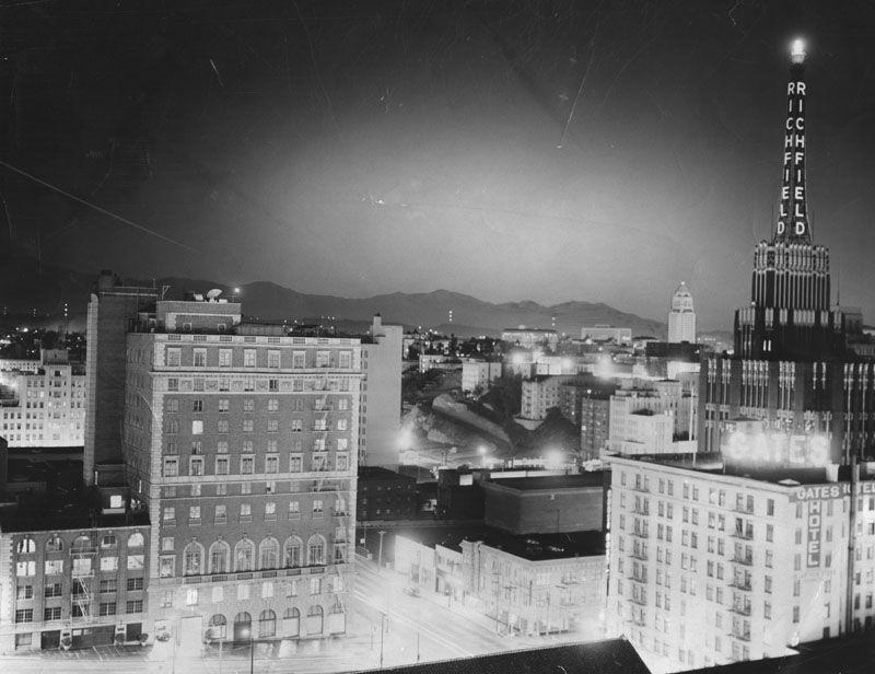 Light over Downtown LA