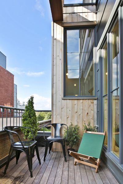 townhouse roof design in greenwood a chic gut renovated townhouse hits the market for
