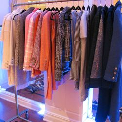 <b>Chanel</b> rack two, classic skirt suits and jackets