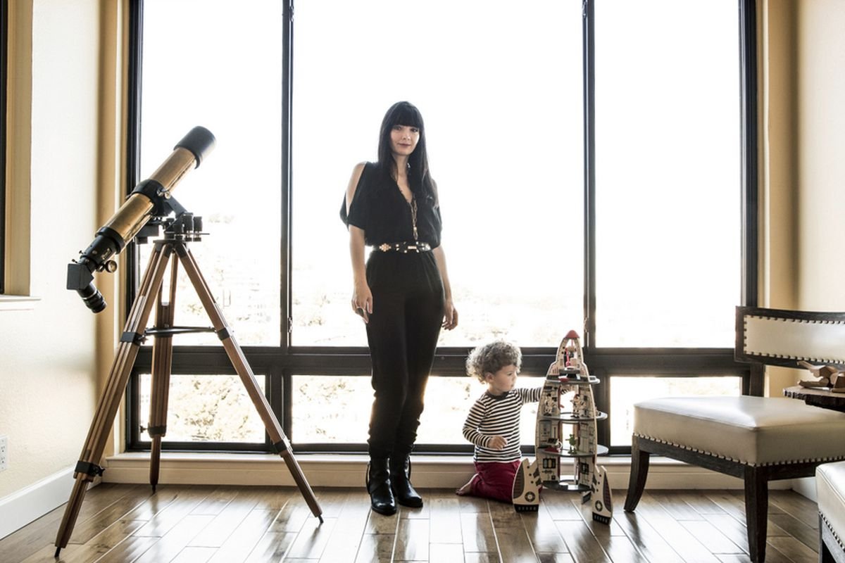 "SF designer Camelia Skikos. Photo by <a href=""http://aubriepick.com/"">Aubrie Pick</a>."