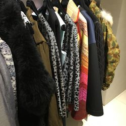 Part of the coat selection