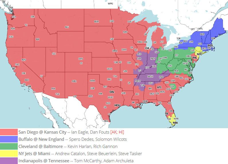 Week 17 TV Map
