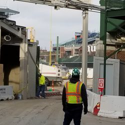 View inside the ballpark at the RF corner