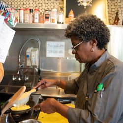 Chef Sara of Chef Sara's Cafe in the South Shore. neighborhood in Chicago on August 1, 2018. | Colin Boyle/Sun-Times