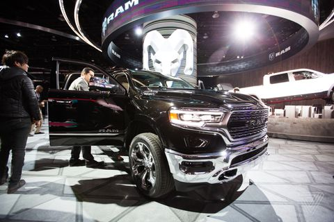The new 2019 Ram 1500 has a massive 12-inch touchscreen display