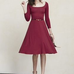 """Noble dress, <a href=""""https://www.thereformation.com/products/noble-dress-rouge"""">$118</a>"""