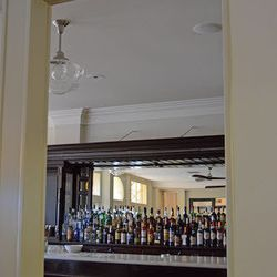 A peek into the bar from the main dining room