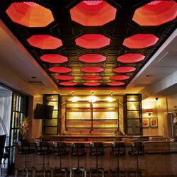 Upstairs bar.
