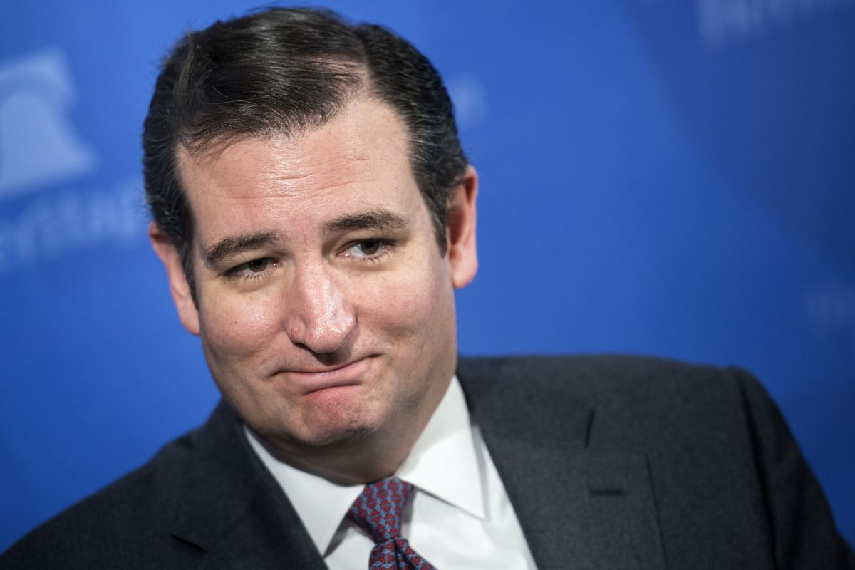 Ted Cruz would like to see you try to file a lawsuit against his eligibility. Come at him, bro.