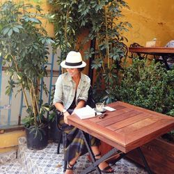 "SF blogger Krystal Bick wears the perfect fall accessory; photo via Krystal Bick/<a href=""http://instagram.com/krystal_bick"">Instagram</a>"
