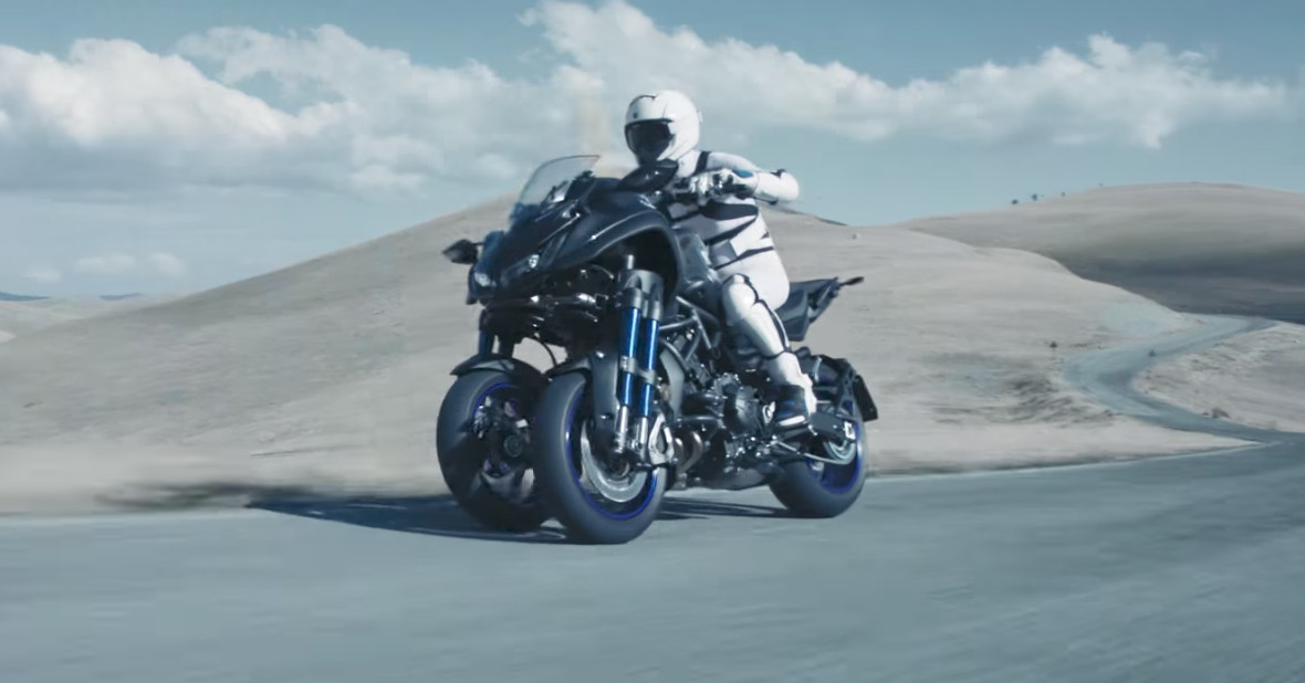 Yamaha's new concept motorcycle would let you slalom into the future